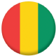 Guinea Country Flag 25mm Flat Back